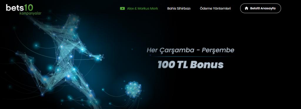 100 TL Bonus Sanal Sporlara Bets10'dan